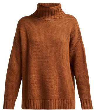 Nili Lotan Cashmere Roll Neck Sweater - Womens - Tan