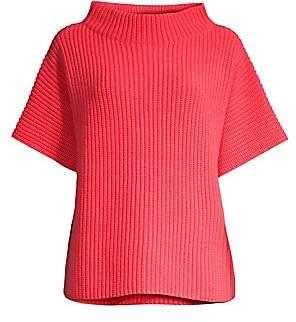 Peserico Women's Funnelneck Short Sleeve Sweater