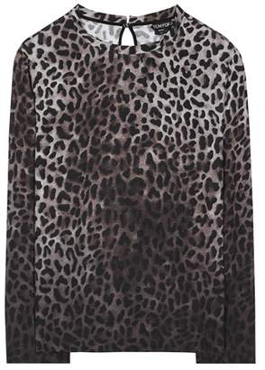 Tom Ford Leopard-printed long-sleeved shirt