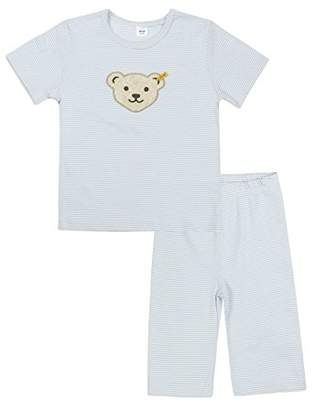 Steiff Girls 0006533 2Pcs Playsuit Clothing Set, Baby Blue, (Manufacturer Size:116)
