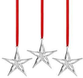 Nambe Set Of Three Star Ornament