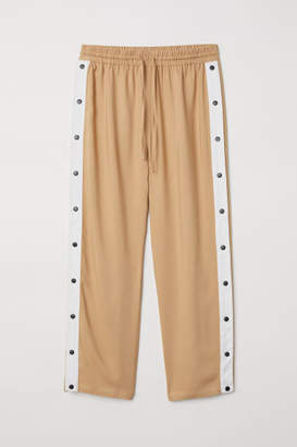 H&M Wide trousers with press-studs - Beige