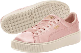 Basket Platform Satin Womens Sneakers