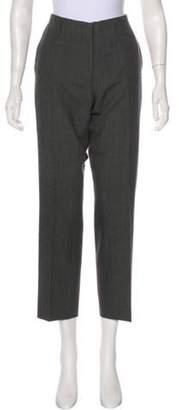 Dries Van Noten Mid-Rise Straight-Leg Pants Grey Mid-Rise Straight-Leg Pants