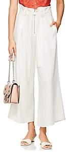 Proenza Schouler Women's Paperbag-Waist Crepe Pleated Trousers - Ecru