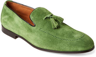 Doucal's Green Suede Tasseled Loafers