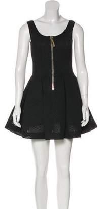 Philipp Plein Cutout Mini Dress Black Cutout Mini Dress