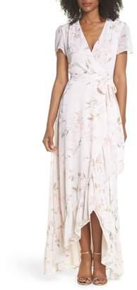 WAYF The Natasha Floral Wrap Maxi Dress