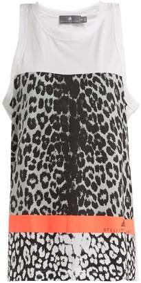adidas by Stella McCartney Leopard-print performance tank top