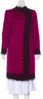 Oscar de la Renta Mohair & Wool-Blend Coat