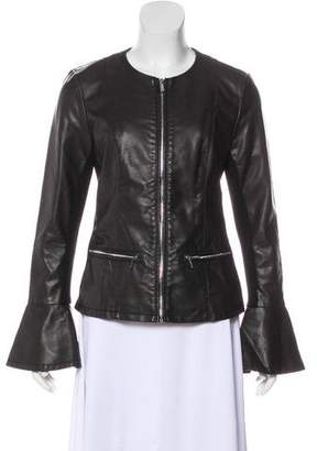 Calvin Klein Faux Leather Zip-Up Jacket