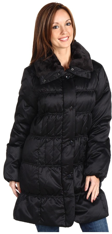 Larry Levine Rebecca Down Coat (Black) - Apparel