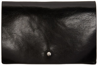 Rick Owens Black Small Flat Wallet $295 thestylecure.com