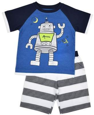 Nannette Baby Boy Interactive 3D T-shirt & Knit Shorts, 2pc Outfit Set