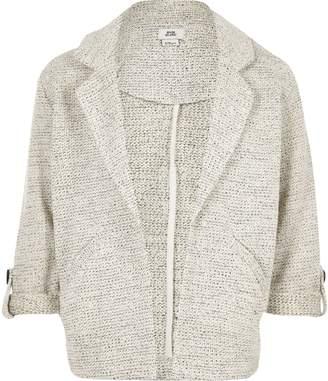 River Island Girls Grey jersey jacket