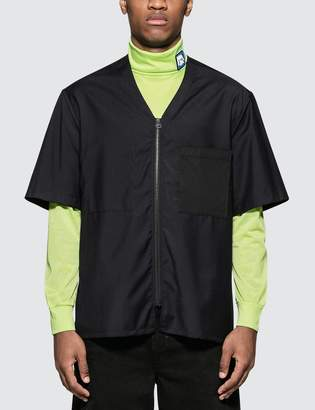 Lanvin Zipped Shirt with Collar Contrasted Details