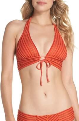 Robin Piccone Carly Keyhole Halter Bikini Top