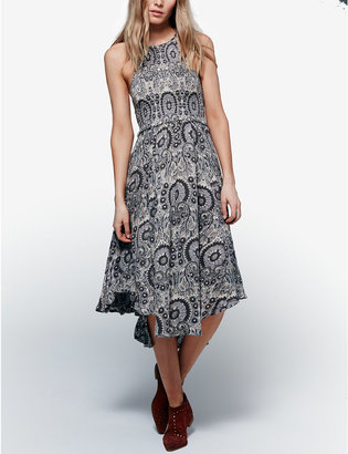 Free People Seasons In The Sun Printed Midi Dress $108 thestylecure.com