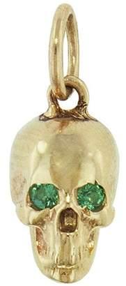 Dru Emerald Baby Skull Pendant - Yellow Gold