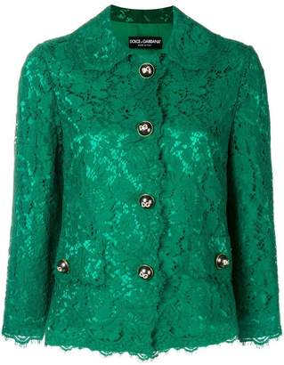 Dolce & Gabbana lace embellished jacket