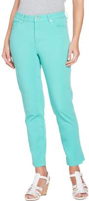 Isaac Mizrahi Live! Tall 24/7 Colored Denim 5-Pocket Ankle Jeans