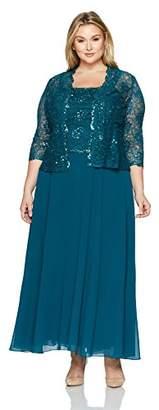 Emma Street Women's Plus Size Two Piece Lace Jacket Dress