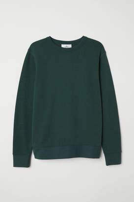 H&M Silk-blend Sweatshirt - Green