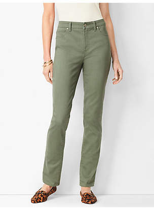 Talbots High-Waist Straight-Leg Jeans - Summer Sage