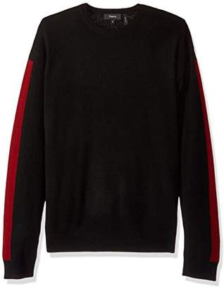 Theory Men's Sweater with Striped Sleeves