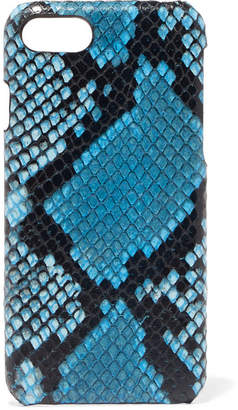 Factory The Case Python-effect Leather Iphone 7 And 8 Case - Blue