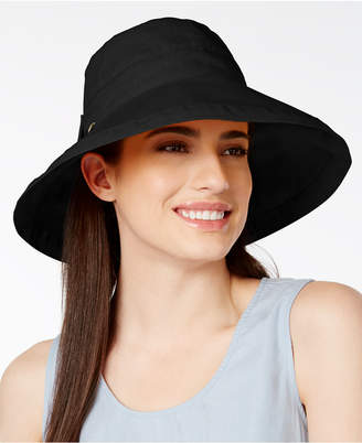 Scala Cotton Canvas Bow Kettle Hat $30 thestylecure.com