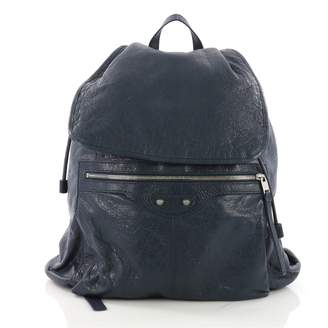 Balenciaga Blue Leather Backpacks