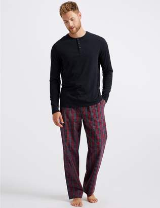 Marks and Spencer Pure Cotton Checked Pyjama Set