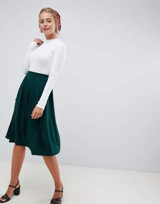 Asos Design DESIGN midi skirt with box pleats