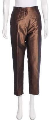 Hermès Silk Mid-Rise Pants