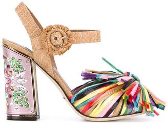 Dolce & Gabbana fringed embellished sandals