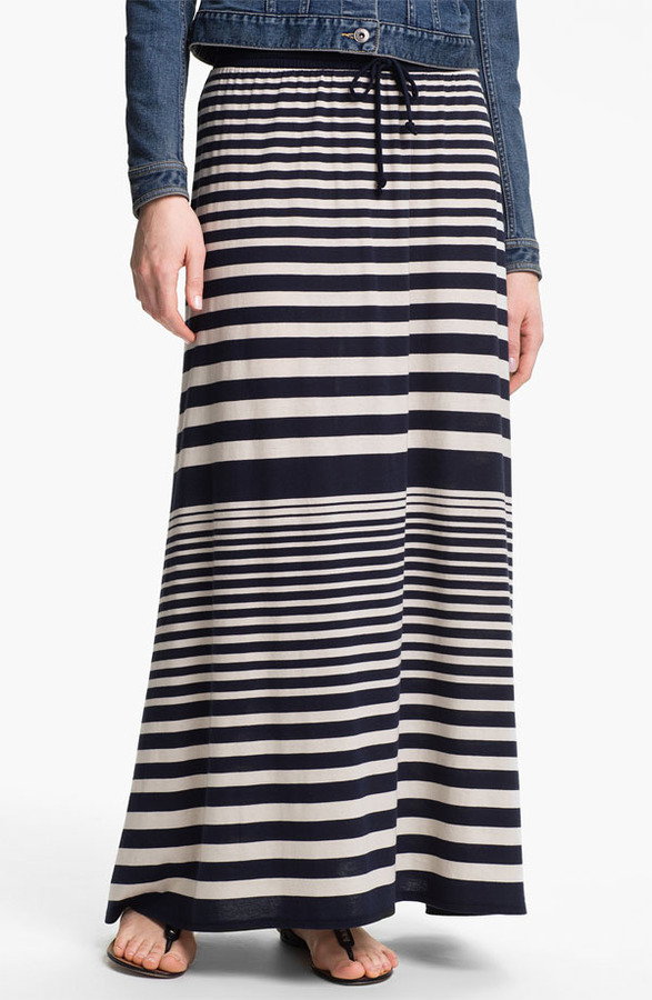 Vince Camuto Two by Nautical Stripe Maxi Skirt