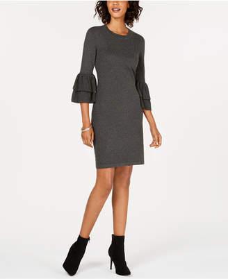 Nine West Bell-Sleeve Sweater Dress
