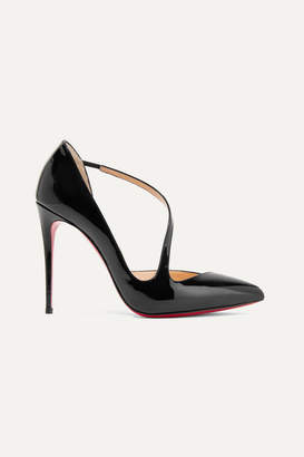 Christian Louboutin Jumping 100 Patent-leather Pumps - Black