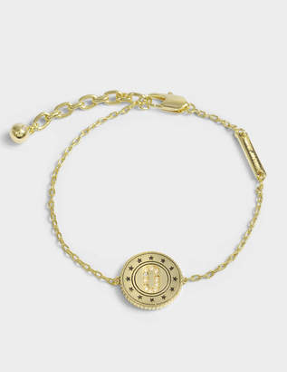 Marc Jacobs Double Sided Medallion Bracelet in Gold Brass