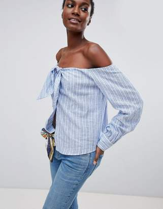 Free People Hello There Beautiful Off Shoulder Blouse