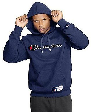 Champion Men's Retro Graphic Pullover Hoodie Sweatshirt