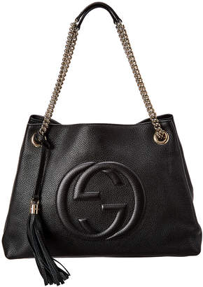 Gucci Black Leather Chain Soho Bag