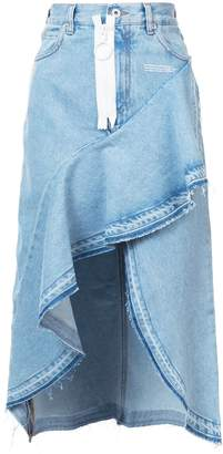 Off-White asymmetric denim skirt