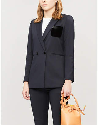 Sandro Double-breasted woven suit blazer