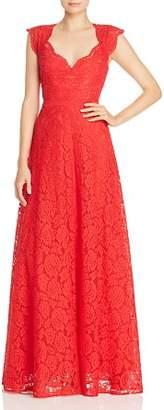 BCBGMAXAZRIA Eve Floral-Lace Gown