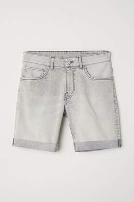 H&M Skinny Denim Shorts - Gray