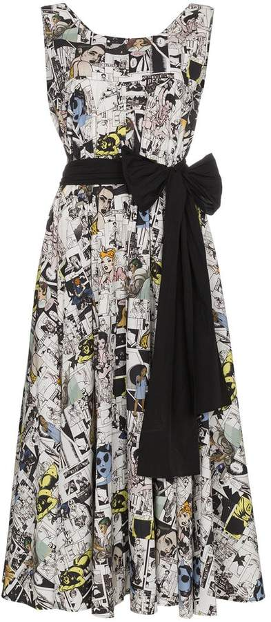 Prada Cotton cartoon dress with bow