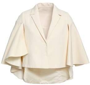 DELPOZO Cape-effect Cotton-jacquard Jacket