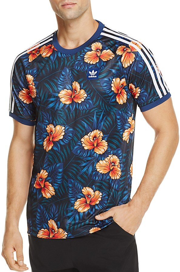 adidas Originals Floral Print Jersey Pullover